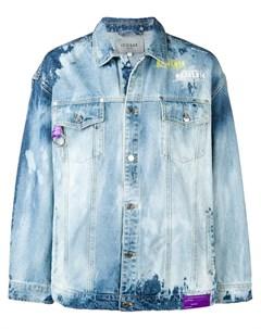 Icosae джинсовая куртка с эффектом кислотной стирки Icosae
