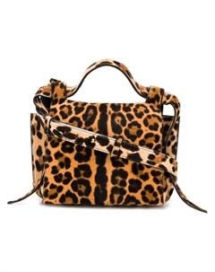 Elena ghisellini сумка на плечо angel с леопардовым принтом нейтральные цвета Elena ghisellini