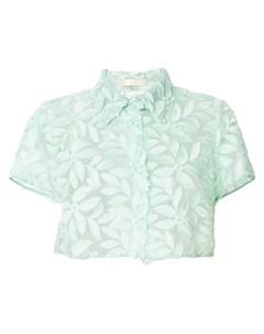 Mantu кружевная блузка с цветочным узором 42 зеленый Mantu