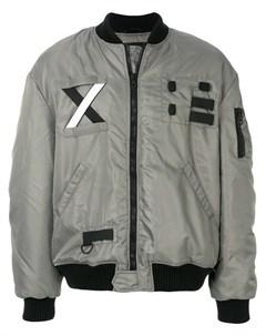 Letasca куртка бомбер с заплатками xxl серый Letasca