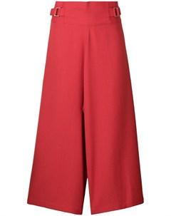 132 5 issey miyake укороченные широкие брюки 3 красный 132 5. issey miyake