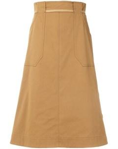 Mantu юбка с застежкой на пуговицы сбоку 40 нейтральные цвета Mantu