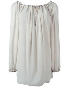 Vivienne westwood red label расклешенная блузка с длинными рукавами нейтральные цвета Vivienne westwood red label