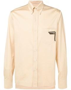 prada рубашка с нагрудным карманом нейтральные цвета Prada