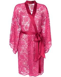 Dolci follie халат с цветочной вышивкой один размер розовый Dolci follie