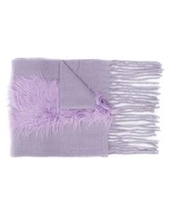Charlotte simone шарф с бахромой один размер фиолетовый Charlotte simone