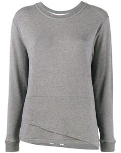 Lot78 свитер с двухслойным подолом Lot78