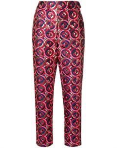 Osman укороченные жаккардовые брюки с металлическим отблеском Osman