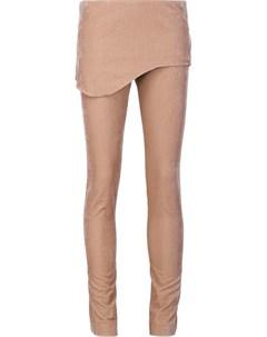 Vivienne westwood red label бархатные брюки с накладной панелью Vivienne westwood red label