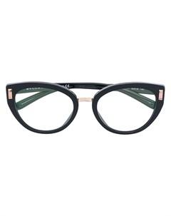 Bulgari очки в овальной оправе 54 черный Bulgari