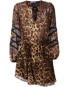 Gaelle bonheur платье асимметричного кроя с леопардовым узором Gaelle bonheur