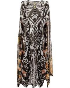 Afroditi hera платье туника ikat 40 серый Afroditi hera