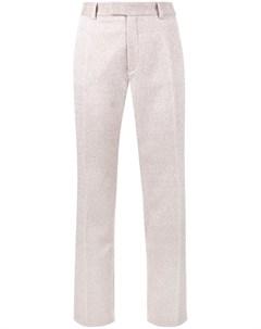 Jour ne прямые брюки с люрексом 38 розовый Jour/né
