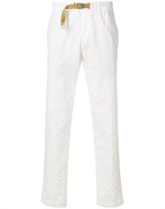 White sand брюки кроя слим с пряжкой 44 белый White sand