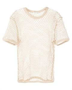 Cmmn swdn сетчатая футболка нейтральные цвета Cmmn swdn