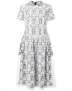 Comme des garcons vintage многослойное кружевное платье миди Comme des garçons vintage