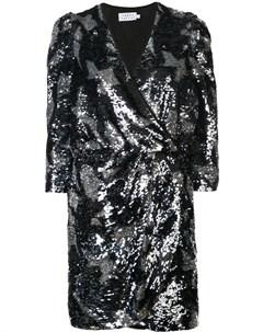 Tanya taylor платье мини с запахом с декором Tanya taylor