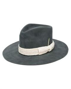 Nick fouquet шляпа с широкими полями и белой лентой Nick fouquet