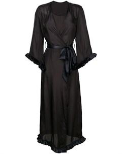 Loveday london длинный халат с v образным вырезом Loveday london