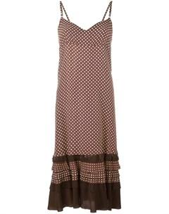 Comme des garcons vintage платье с узором в горох и необработанными краями Comme des garçons vintage