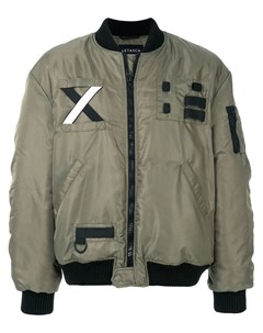 Letasca куртка бомбер с заплаткой s зеленый Letasca