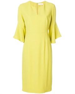Mantu платье миди с рукавами колокол 40 желтый Mantu
