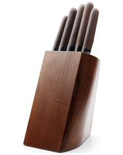 Набор ножей Tobacco в подставке 5 предметов Apollo