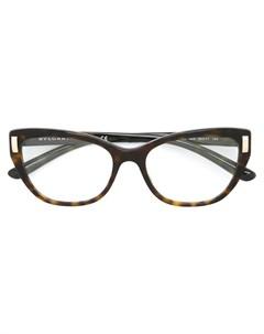 Bulgari оптические очки в прямоугольной оправе один размер коричневый Bulgari