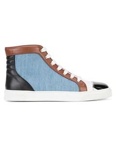 louis leeman хай топы со шнуровкой и контрастными панелями Louis leeman