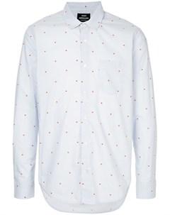 Mads norgaard приталенная рубашка в горох m синий Mads nørgaard