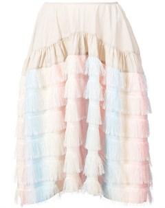 Jourden юбка с бахромой Jourden