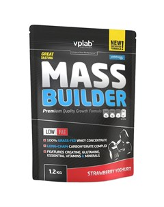 Гейнер Mass Builder Клубничный йогурт 1 2 кг Vplab