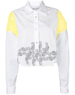 Gaelle bonheur укороченная рубашка с логотипом Gaelle bonheur