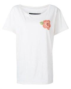 Garcons infideles футболка с прорезью нейтральные цвета Garcons  infideles