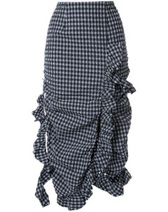 Irene юбка с оборками в клетку гингем Irene
