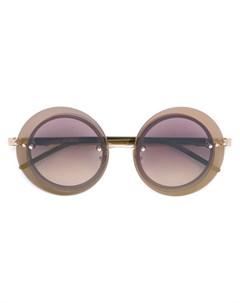 Sama eyewear круглые солнцезащитные очки loree rodkin Sama eyewear