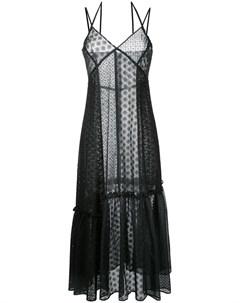 Le ciel bleu кружевное платье с присборенной отделкой 38 черный Le ciel bleu