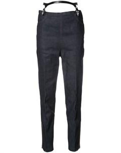 Toga зауженные джинсы с подтяжками Toga