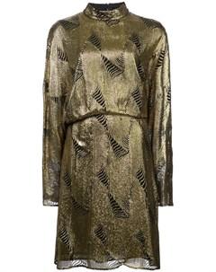 Sally lapointe платье шифт с эффектом металлик Sally lapointe