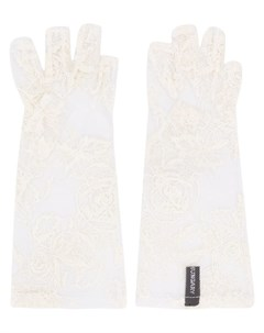 ann demeulemeester кружевные перчатки митенки нейтральные цвета Ann demeulemeester