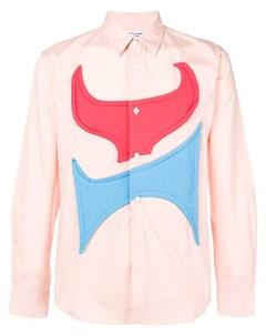 Comme des garcons shirt boys рубашка с абстрактной вставкой нейтральные цвета Comme des garçons shirt boys