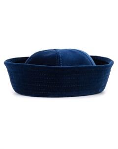 Valas бархатная шляпа с панельным дизайном Valas