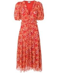 Hemant and nandita платье миди с цветочным принтом Hemant & nandita