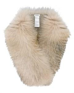 Inverni шарф с отделкой лисьим мехом нейтральные цвета Inverni