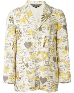 Comme des garcons vintage пиджак с графическим принтом нейтральные цвета Comme des garçons vintage
