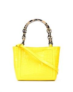 Edie parker сумка тоут с эффектом крокодиловой кожи Edie parker