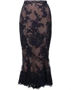 Marchesa кружевная юбка карандаш с расклешенным подолом Marchesa