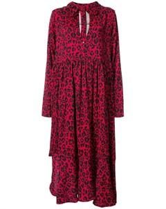 Barbara bologna платье с капюшоном и леопардовым принтом Barbara bologna