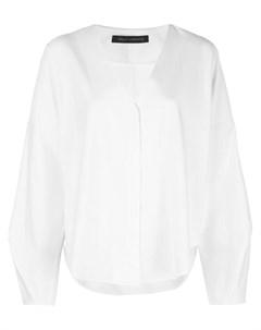 Sally lapointe блузка с запахом 8 белый Sally lapointe