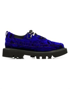 Rombaut бархтаные туфли на шнуровке Rombaut